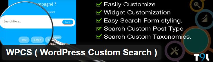 WPCS (WordPress Custom Search) Plugin image from WordPress.org