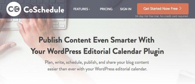 CoSchedule comes with a WordPress editorial calendar plugin.