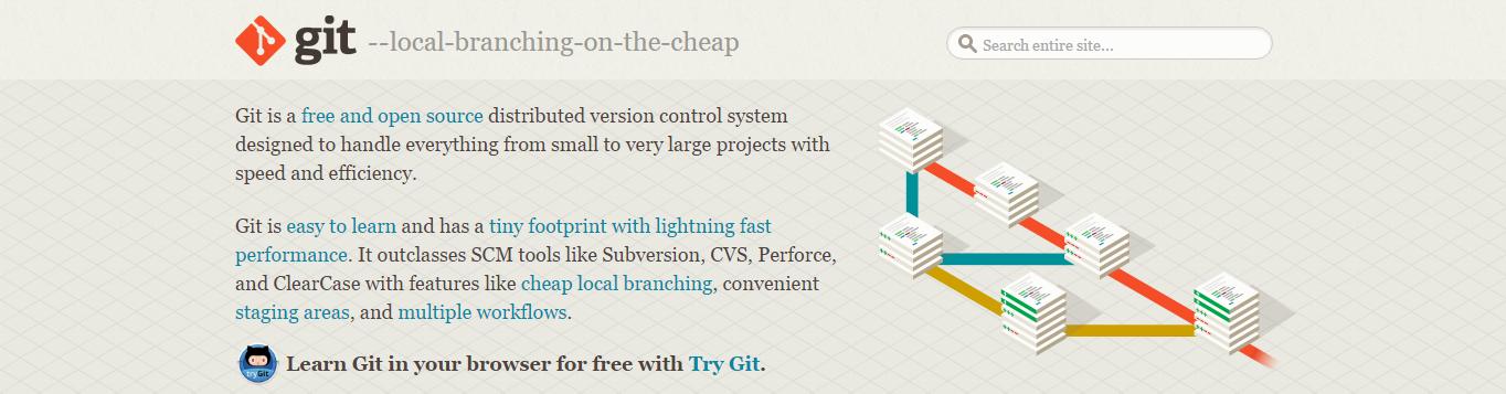 screenshot of git-scm.com website