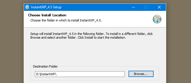 install instantwp on the flashdrive