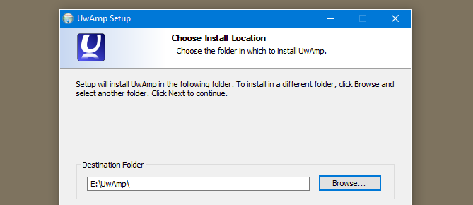 install uwamp on the flashdrive