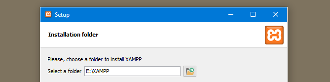 install xampp on the flashdrive