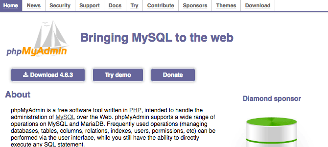 phpMyAdmin is a tool written in PHP intended to handle the administration of MySQL over the web.
