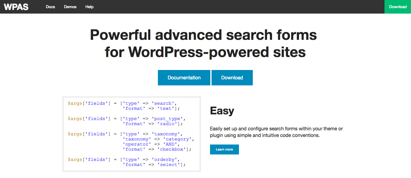 The WP Advanced Search Website.