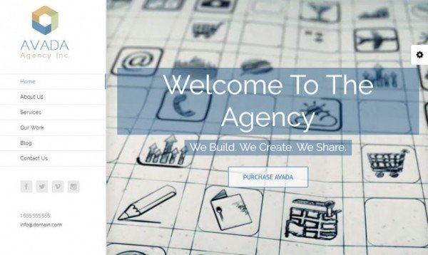 Agency, Avada theme
