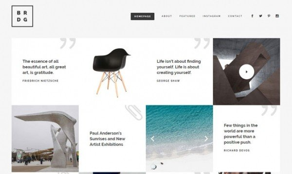 Chequered Blog, Bridge theme