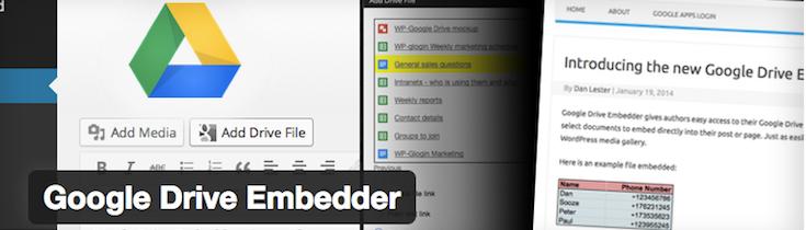 Google Drive Embedder plugin