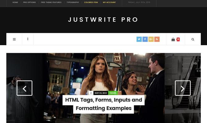 JustWrite Pro theme