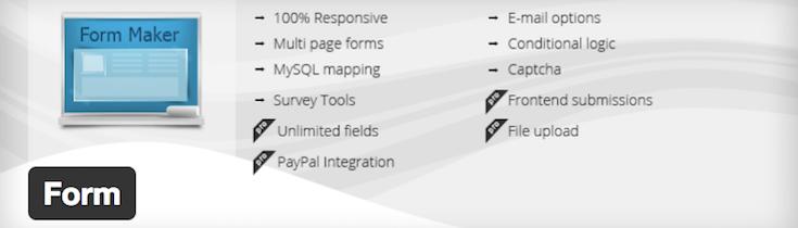 WordPress Form Maker plugin