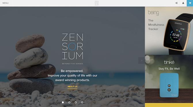 Zensorium uses storytelling to sell its health and fitness trackers.