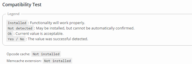 w3 total cache compatibility test screenshot