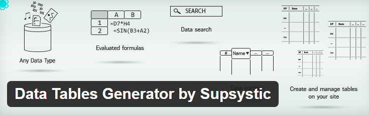 screenshot of data tables generator by supsystic plugin from wp.org