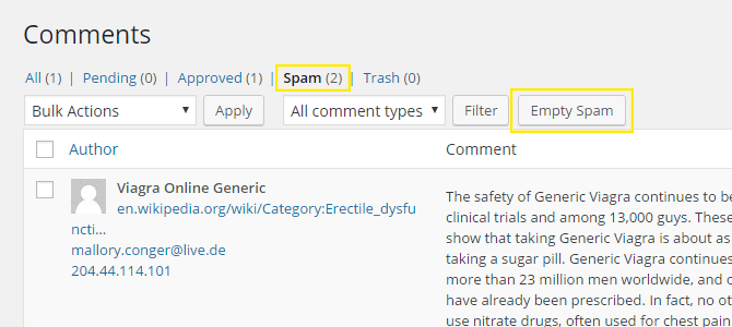 The comments page.