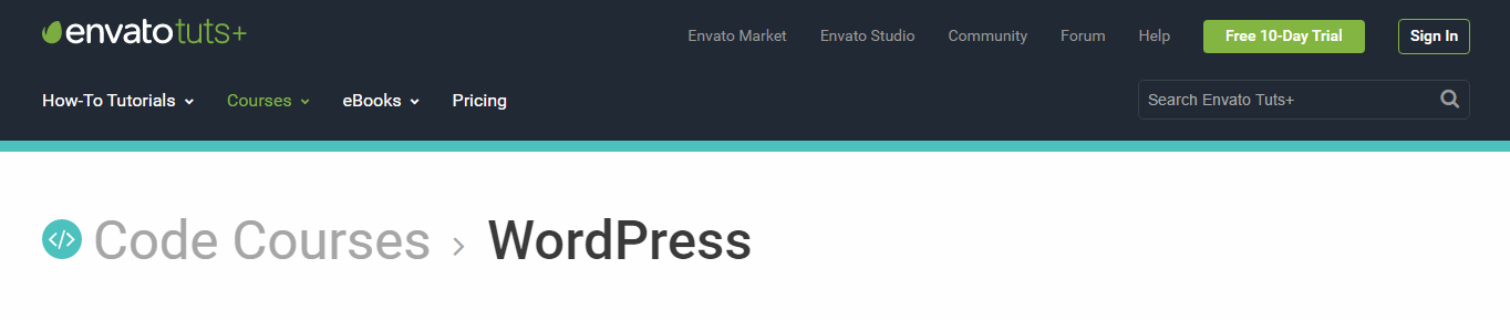 envato tuts website screenshot