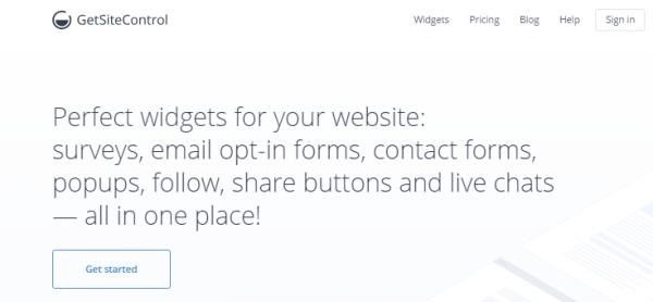 GetSiteControl website screenshot
