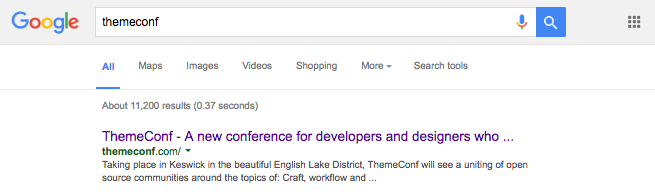tehmeconf - a google search