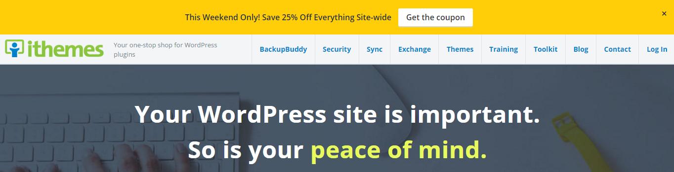 iThemes website screenshot