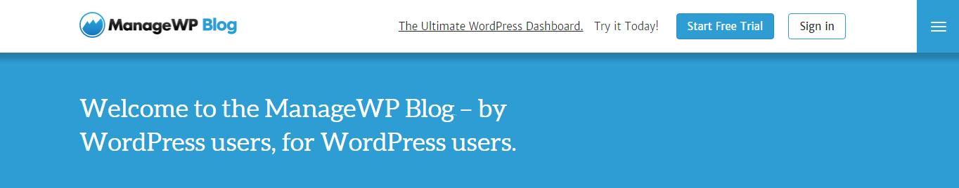 ManageWP website screenshot