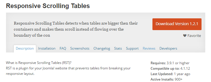 screenshot of responsive scrolling tables plugin from wp.org