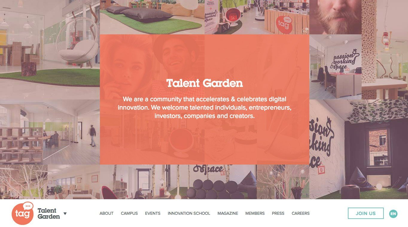 Talent Garden is a coworking network for digital and creative professionals.