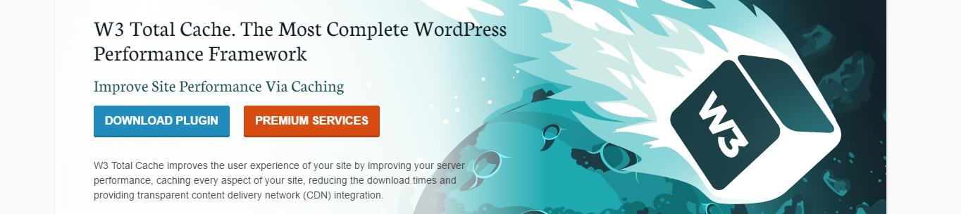 w3 total cache website screenshot