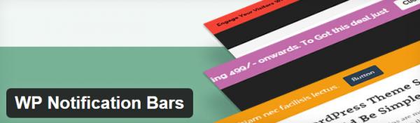 WP Notification Bars plugin screenshot