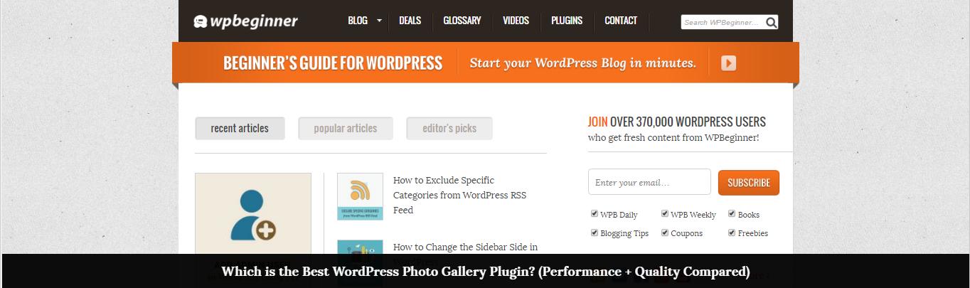 WPBeginner website screenshot