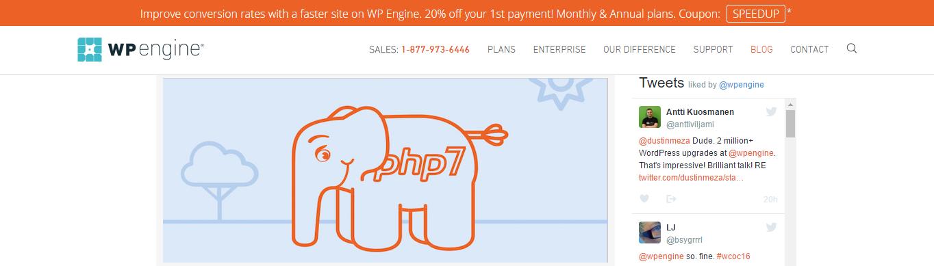 WPEngine website screenshot