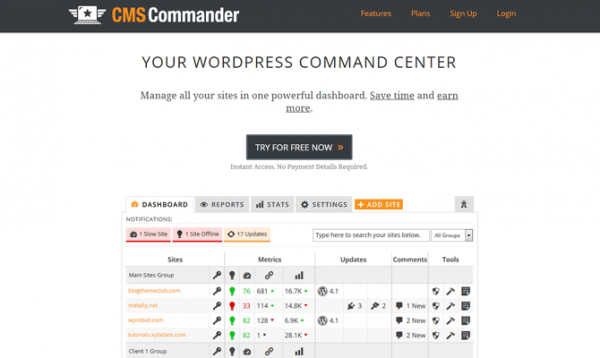CMS Commander's site.