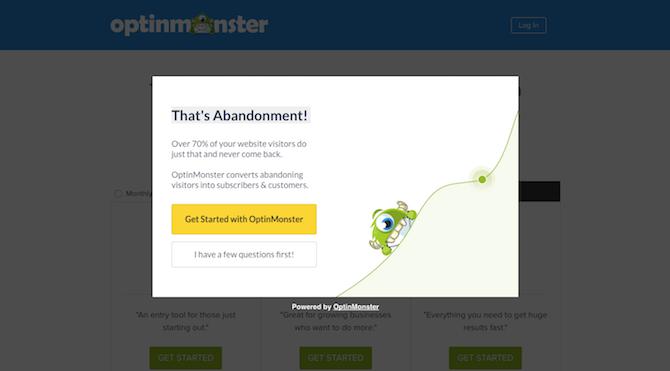 OptinMonster Exit-Intent