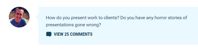 comment prompt screenshot from WPMU DEV blog