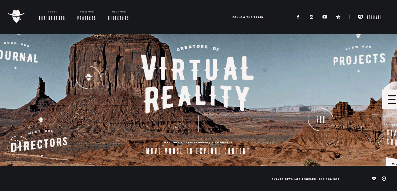 Train Robber is a virtual reality agency based in Los Angeles and New York.