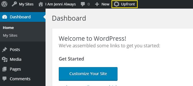 Creating custom page templates in wordpress wpmu dev the upfront button in the admin bar maxwellsz