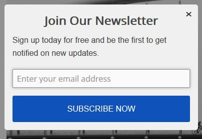 "Join our newsletter is an even poorer choice of ""offer"""