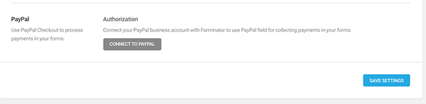 Add paypal in forminator.