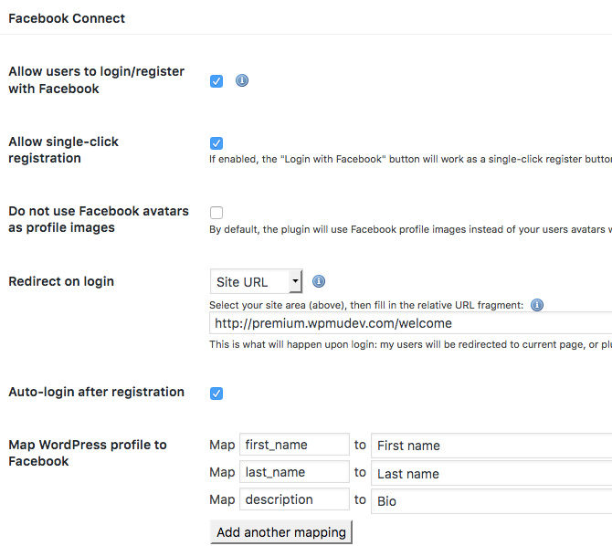 Allowing registration to your WordPress site through Facebook
