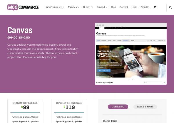 Canvas website