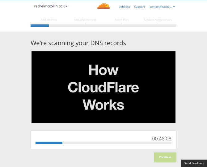 Cloudflare plays a video while it scans your DNS