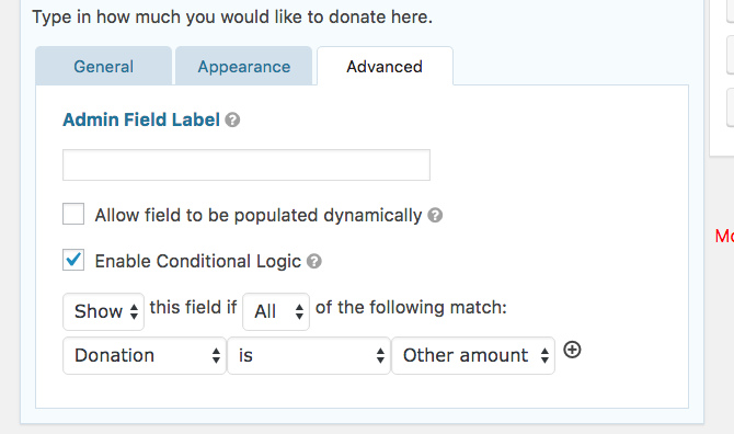 Adding a form field with conditional logic