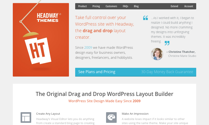 Headway themes website