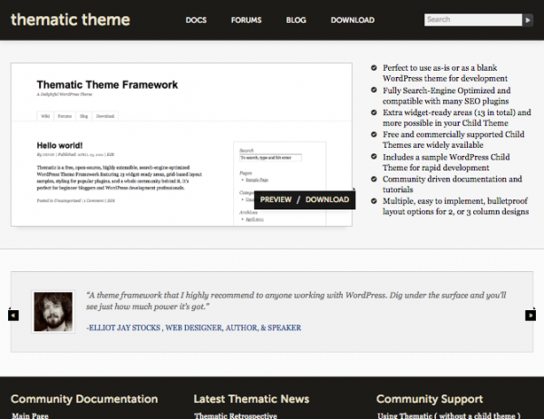 Thematic website