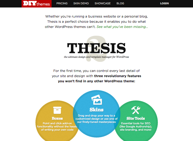 thesis in wordpress Wordpress has a web template system using a template processor its architecture is a front controller, routing all requests for non-static uris to a single php file which parses the uri and identifies the target page this allows support for more human-readable permalinks themes wordpress users may install and switch among different themes.
