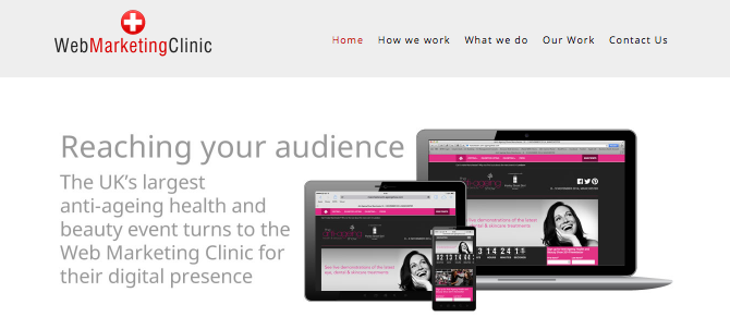 web marketing clinic home page