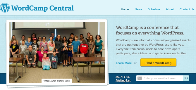 wordcamp central website