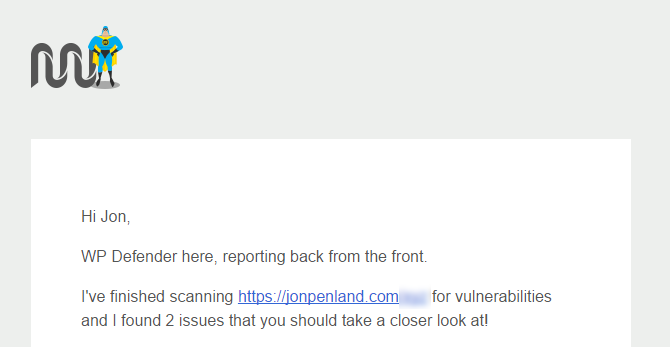 Defender has found two issues and notified me to go address them.