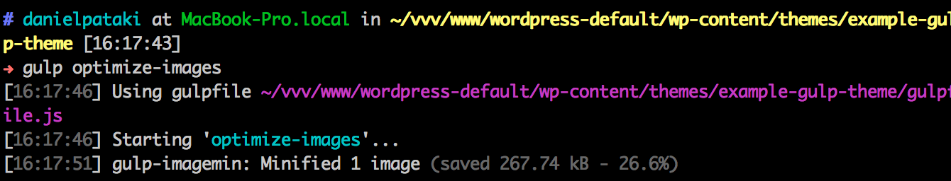 Gulp Image Optimization At Work