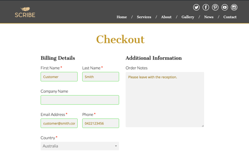 Easily style checkouts to match your branding.