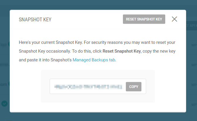 Get your Snapshot key from the Hub.