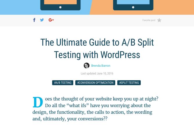 WPMU DEV guide to split testing