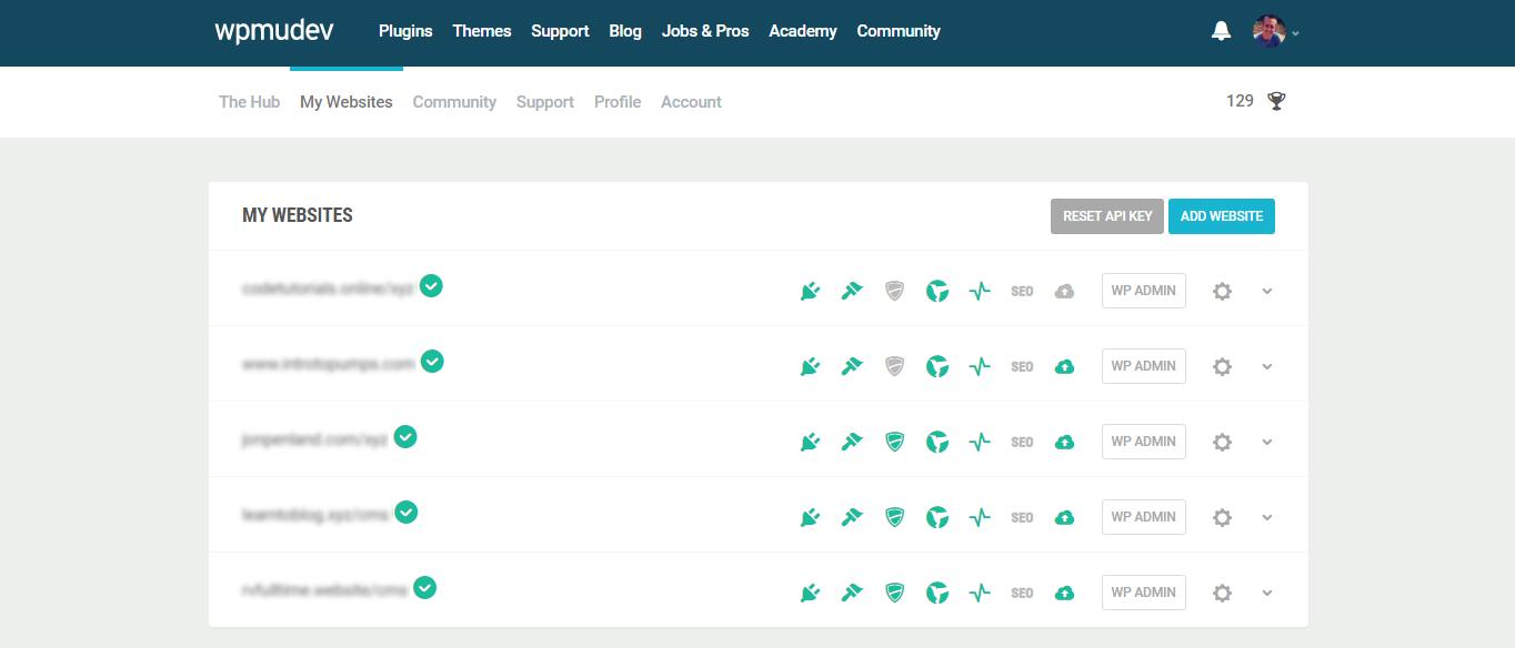 Screenshot of the Hub